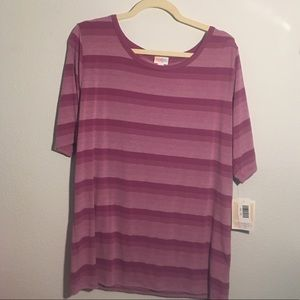 Striped Gigi fitted top 🌸💜💗NWT